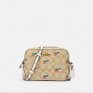 Coach strawberry mini camera crossbody
